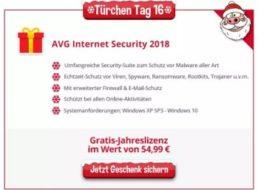 Gratis: AVG Internet Security 2018 heute bei Heise zum Nulltarif