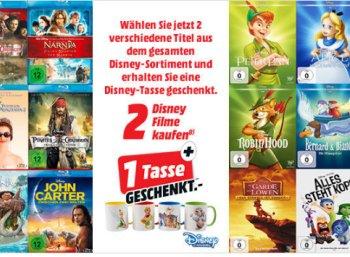 Gratis: Disney-Tasse beim Kauf von zwei Disney-Filmen