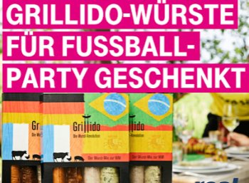 Gratis: Viererpack Grillwürste von Grillido via Telekom-Megadeal