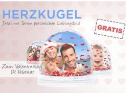Valentinstag: Persönliche Herzkugel für 4,99 Euro frei Haus