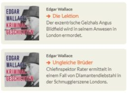 Gratis: Edgar-Wallace-Hörbücher bei Vorleser.net zum Download