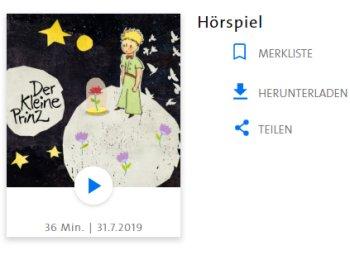 """Gratis: Hörspiel """"Der kleine Prinz"""" bei der ARD zum Download"""