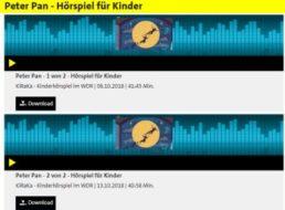 """Gratis: Hörspiel """"Peter Pan"""" für Kinder zum Nulltarif beim WDR"""