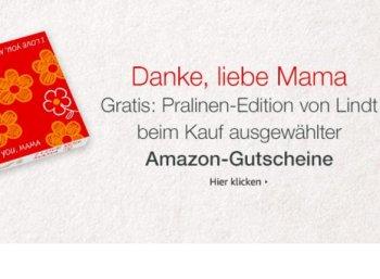 Gratis: Lindt-Pralinen zum Amazon-Gutschein geschenkt