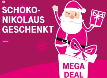 Gratis: Schokoladen-Nikolaus für Telekom-Kunden zum Nulltarif frei Haus