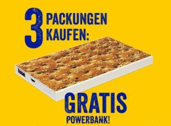 Gratis: Powerbank beim Kauf von drei Wasa-Produkten