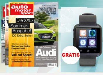 """Gratis: Smartwatch zum Probeabo der """"auto motor und sport"""" für 17,60 Euro"""