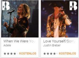 """Gratis: Acht Songs der """"Brit Awards 2016"""" bei Google Play zum Nulltarif"""
