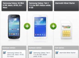 Gratis:  Samsung-Handy und Tablet im Wert von 265 Euro zum Vertrag für 250 Euro