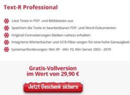 """Gratis: Vollversion von """"Text-R Professional"""" im Wert von 29,90 Euro"""