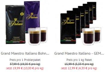 Gratis: Zwei doppelwandige Gläser zum Kaffeepaket ab 12,99 Euro
