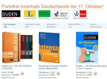 Terrashop: Bildungs-Bücher von Duden & Co. ab 1,99 Euro frei Haus