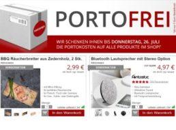 Druckerzubehoer.de: Räucherbretter und Bluetooth-Lautsprecher mit Gratis-Versand