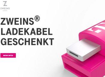Gratis: Zweins-Ladekabel zum Nulltarif für Telekom-Kunden
