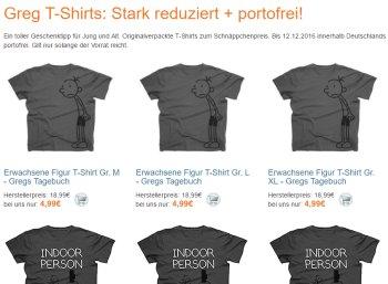 Terrashop: Greg T-Shirts für 4,99 Euro frei Haus