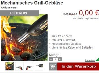 Druckerzubehoer.de: Sechs Grillartikel für 0 Euro plus Versand