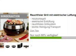 Druckerzubehoer.de: BarbeQool-Grill mit elektrischer Lüftung, optional mit Pizza-Set