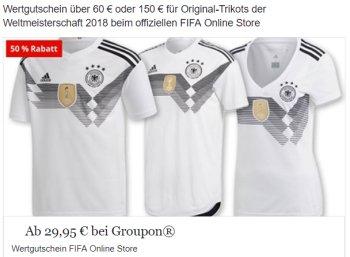Groupon: 30 bis 50 Euro Rabatt im Fifa-Store zur WM 2018 (Bild: Groupon.de)