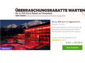 Groupon: Bis zu 20 Prozent Rabatt auf Reisedeals