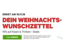 Groupon: Restaurant-Gutscheine nochmals um zehn Prozent rabattiert