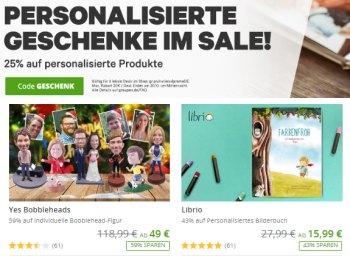 Groupon: Personalisierte Geschenke mit 25 Prozent Extra-Rabatt