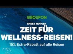 Groupon: 15 Prozent Rabatt auf alle Reisen, maximal 20 Euro