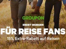 Groupon: 15 Prozent Reise-Rabatt bis Freitag abend