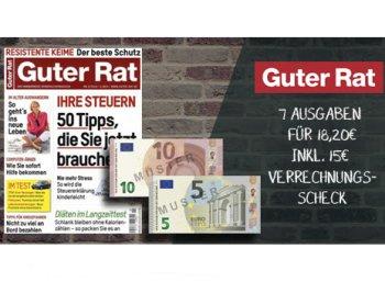 Guter Rat: Sieben Ausgaben für 3,20 Euro frei Haus dank Scheck
