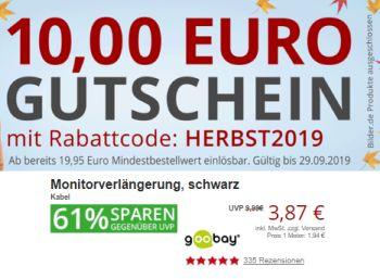 Druckerzubehoer.de: 10 Euro Rabatt bis Sonntag abend