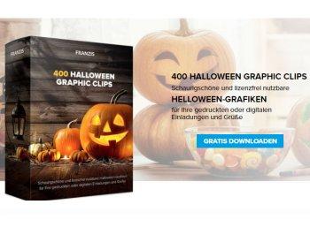 Gratis: 400 lizenzfreie Halloween-Grafiken via Franzis zum Nulltarif