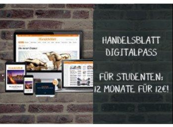 Handelsblatt: Digitalpass zum Studi-Preis von 12 Euro pro Jahr