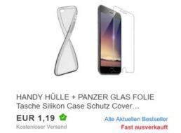 Ebay: Handyhülle und Panzerglas für 4,76 Euro mit Versand