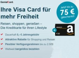 Knaller: 105 Euro geschenkt zur Visa Card der Hanseatic Bank