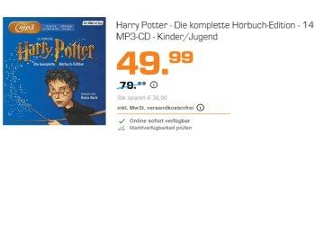 Harry-Potter: Komplette Hörbuch-Edition auf 14 MP3-CDs für 49,99 Euro frei Haus