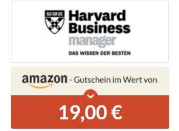 """Knaller: 2 x """"Harvard Business Manager"""" mit 15 Euro Gewinn"""