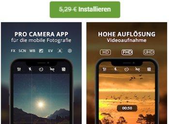 """Gratis: App """"HD Kamera Pro"""" für 0 statt 5,49 Euro im Play-Store"""