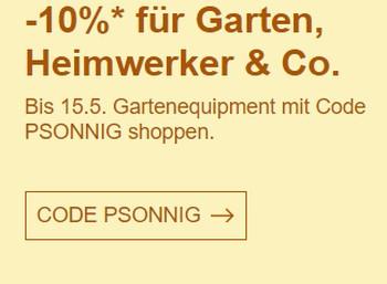 Ebay: Rabatt von 10 Prozent auf Gartenartikel und Werkzeuge