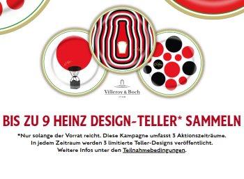 Gratis: Designteller von Heinz beim Kauf von drei Produkten