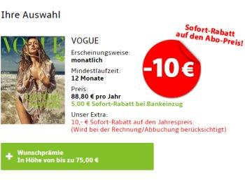Prämien-Abos: 10 Euro Extra-Rabatt für wenige Tage
