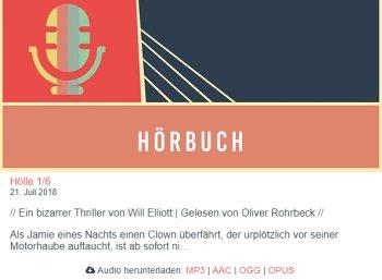 """Gratis: Hörbuch """"Hölle"""" in sechs Teilen zum kostenlosen Download"""