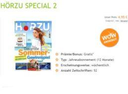 Hörzu: Jahresabo für 4,95 Euro frei Haus