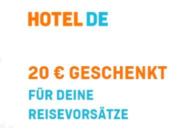 Hotel.de: 20 Euro Rabatt für Buchungen ab 80 Euro