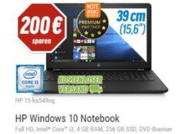 HP: Notebook mit 256 GByte SSD und Full-HD-Display für 299 Euro frei Haus