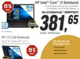 Notebooksbilliger.de: 20 Prozent Rabatt auf HP-Notebooks für wenige Tage