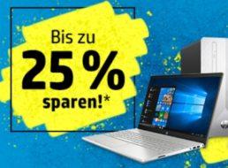 HP: Notebooks, PCs und mehr mit bis zu 25 Prozent Rabatt