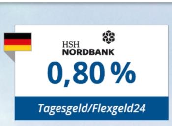 Knaller: 0,8 Prozent Tagesgeld-Zins bei HSH Nordbank via Zinspilot