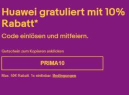 Huawei: 10 Prozent Extra-Rabatt bei Ebay