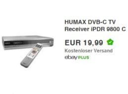 Ebay: Humax iPDR 9800 DVB-C-Receiver mit 160 GByte als B-Ware für 19,99 Euro