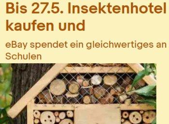 Ebay: Gratis-Insektenhotel für Schulen beim Kauf eines gleichwertigen Modells