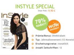 Instyle: Jahresabo mit zwölf Ausgaben zum Direktpreis von 9,90 Euro